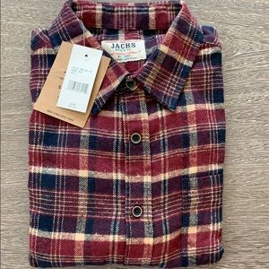 Jachs mfg & co plaid flannel shirt new sz L